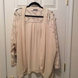 Modcloth cardigan cream size 3x new with tags